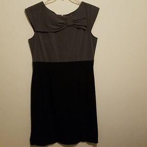 Olivia Matthews Gray Black Dress size 12